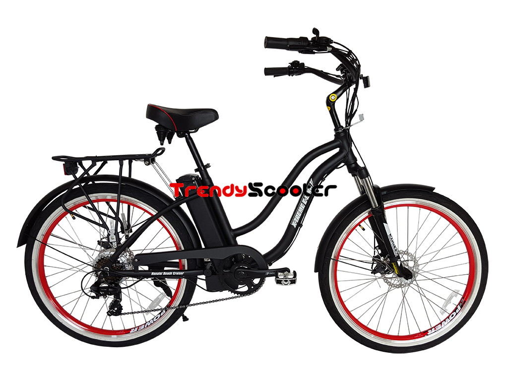 Electric Bicycles For Sale >> Hanalei Volt Step Through Beach Cruiser Electric Bicycle